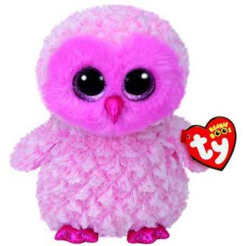 Ty Beanie Boos Medium - Twiggy Pink Owl