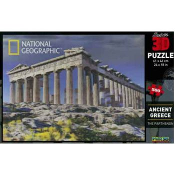 500pce 3D Jigsaw Puzzle - Ancient Greece: The Parthenon