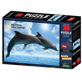 National Geographic 3D Jigsaw Puzzle - Dolphins
