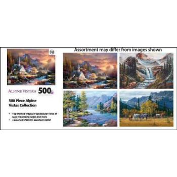 500pce Alpine Vistas puzzle assorted