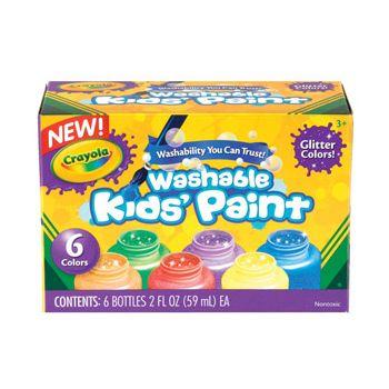 Crayola Washable Glitter Paint 6 Pack