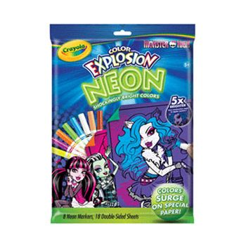 Crayola Neon Color Explosion Disney Monster High ( was RRP $19.99 )
