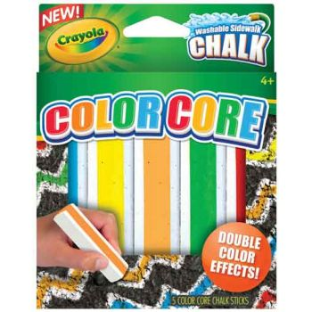 Crayola Special Effects Sidewalk Chalk- Color Core