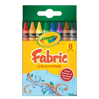 Crayola 8 Fabric Crayons (regular size)