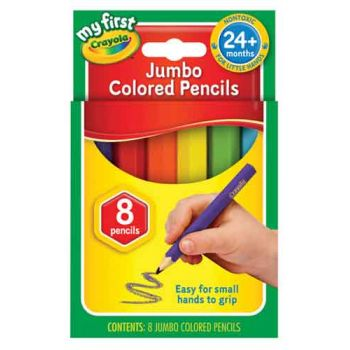 Crayola My First 8 Jumbo Hexagonal half size coloured pencils