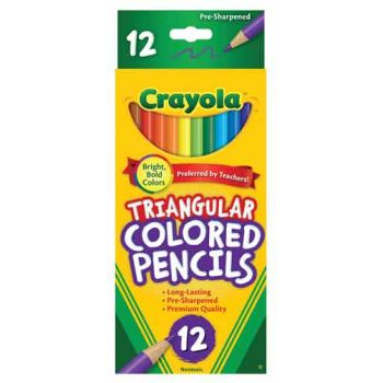 Crayola 12 full size Triangular Coloured Pencils