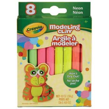 Crayola Modelling Clay 8 Neon Colour assortment
