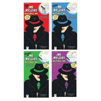 Mr. Mystery Invisible Ink Game Books