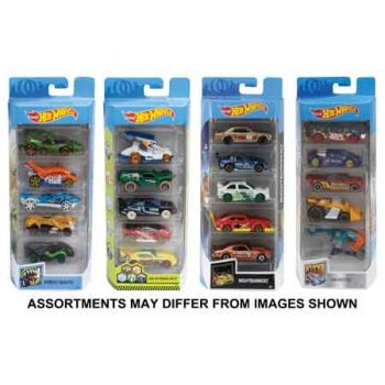 Hot Wheels 5 Pack Diecast Cars assorted