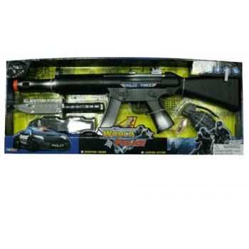 Battery Operated Police Force Gun Set