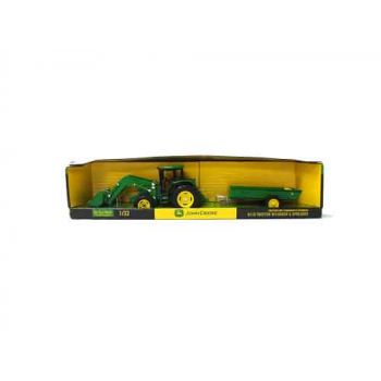 John Deere 1:32 6210 Tractor with Loader and Manure Spreader Replica