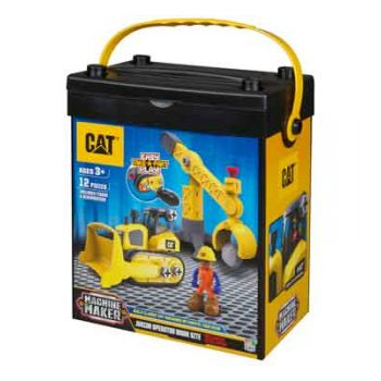 CAT Construction Junior Work Site Bulldozer & Crane ( was RRP $39.99 )