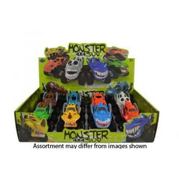 Monster Trucks Friction Characters assorted ( ONLY SOLD in display of 8 ) ( was RRP $10.99 )