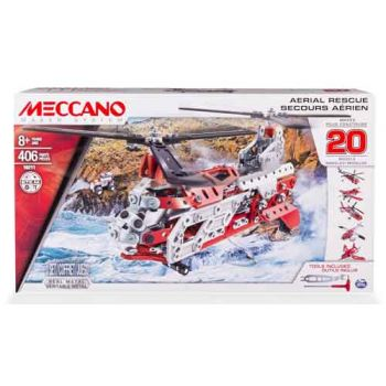 Meccano Multi-Model 20 Set - Helicopter ( was RRP $69.99 )