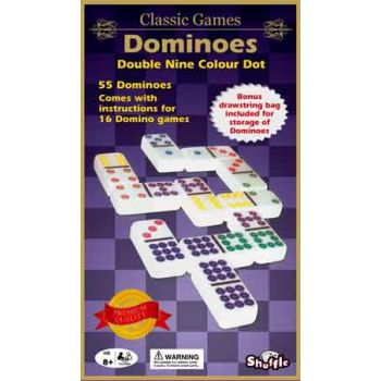 Shuffle Classic Dominoes Coloured Double 9