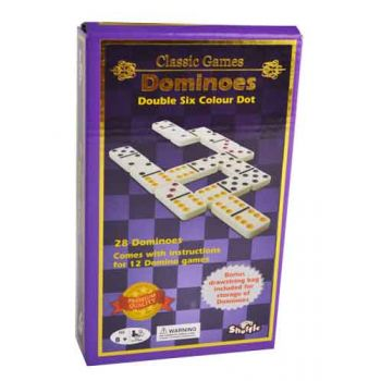 Shuffle Classic Coloured Dominoes Double 6