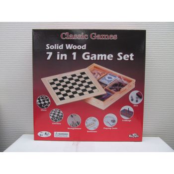 Shuffle Classic Wooden 7 in 1 Family Games ( was RRP $49.99 )