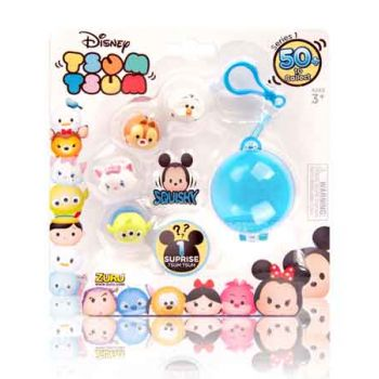 Disney Tsum Tsum Squishies 5pk with Caribener ( was RRP $16.99 )
