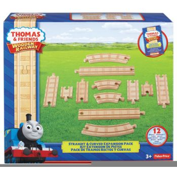 Thomas & Friends Wooden Railway Acc Straight & Curve Expansion Pack