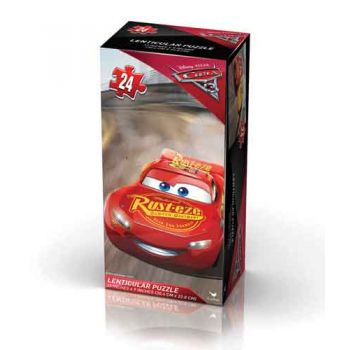 Disney Cars 3 Lenticular Tower Box Puzzle 24pce
