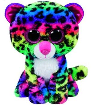 Ty Beanie Boos Regular - Dotty the Multicoloured Leopard