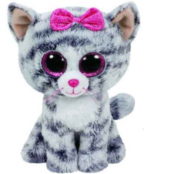 Ty Beanie Boos Regular - Kiki the Grey Cat