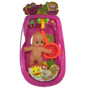 Doll Baby Bath Tub Set