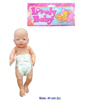Caucasian 41cm New Born Baby Doll Girl with Nappy