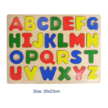 Fun Factory Wooden Puzzle Alphabet Upper Case - Raised