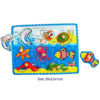 Fun Factory Puzzle with Knobs - Sea Animals