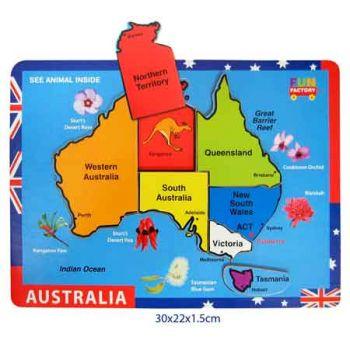 Fun Factory Puzzle Raised -  Australian Map