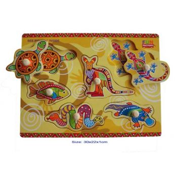 Fun Factory Wooden Puzzle with Knobs - Aboriginal