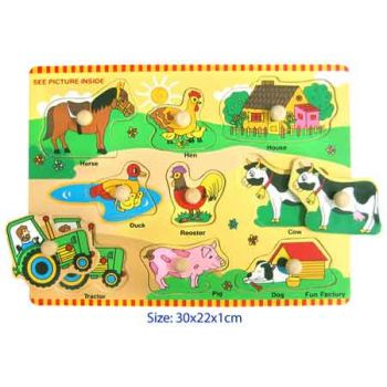 Fun Factory Puzzle with Knobs - Farm