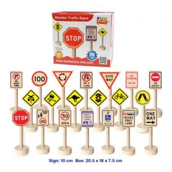 Fun Factory Traffic Signs - 21pcs