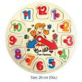 Fun Factory Wooden Puzzle Clock - Girl