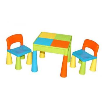 Children's Block Table & 2 Chairs - Unisex