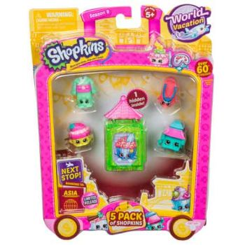Shopkins Series 8 Wave 2 ASIA 5 pack assorted