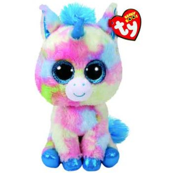 Ty Beanie Boos Medium - Blitz Blue Multi Unicorn