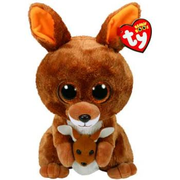 Ty Beanie Boos Medium - Kipper Brown Kangaroo ( was RP $19.99 )