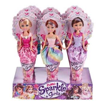 """Sparkle Girlz 10.5"""" Princess Cone Doll assorted ( ONLY SOLD in Display of 12 )"""