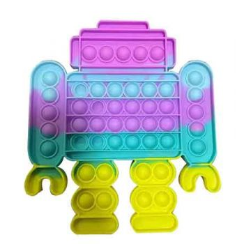Pop It Fidget Toy SuperSize Pastel Rainbow ROBOT ( ONLY SOLD in Carton of 24 ) ( was RRP $14.99 )